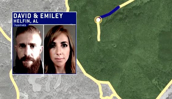 David & Emiley hike on Hunted CBS